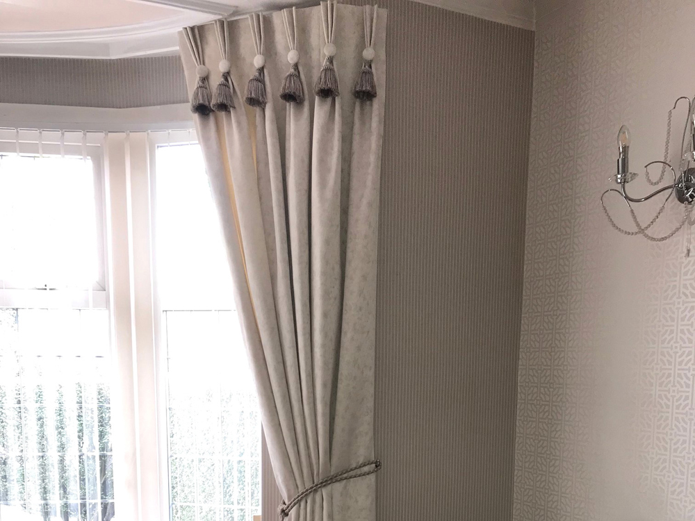 Pinch Pleat Curtains with Tassel
